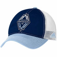 Vancouver Whitecaps FC adidas Logo Patch Adjustable Slouch Cap - Navy/Blue/White