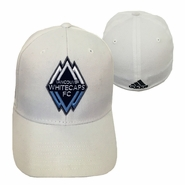 Vancouver Whitecaps FC adidas Primary Structured Flex Fit Hat - White