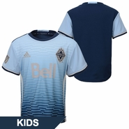Vancouver Whitecaps FC adidas 'Sea To Sky' Kids Replica Short Sleeve Secondary Jersey - Blue