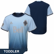 Vancouver Whitecaps FC adidas 'Sea To Sky' Toddler Replica Short Sleeve Secondary Jersey - Blue