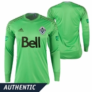 Vancouver Whitecaps FC adidas 'Solar Lime' Authentic Long Sleeve Keeper Jersey - Green