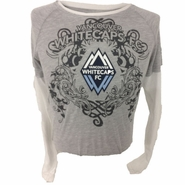 Vancouver Whitecaps FC adidas Women's Center Crest Long Sleeve Tee - Grey