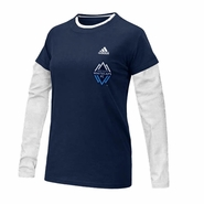 Vancouver Whitecaps FC adidas Women's Cheer Long-Sleeve T-Shirt - Navy