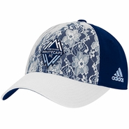 Vancouver Whitecaps FC adidas Women's Lace Adjustable Slouch Cap - Navy/White