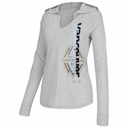 Vancouver Whitecaps FC adidas Women's Split Decision Long Sleeve Hooded Tee - Grey