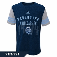 Vancouver Whitecaps FC adidas Youth 3-Stripe City Tee - Navy/Grey