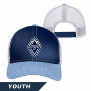 Vancouver Whitecaps FC adidas Youth Adjustable Slouch Cap - Blue/White