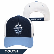 Vancouver Whitecaps FC adidas Youth Basic Adjustable Structured Cap - Blue/White