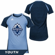 Vancouver Whitecaps FC adidas Youth Club Surface Tee - Blue