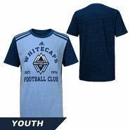 Vancouver Whitecaps FC adidas Youth Club Triblend Tee - Blue
