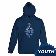 Vancouver Whitecaps FC adidas Youth Distressed Hoody - Navy