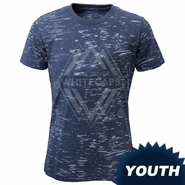 Vancouver Whitecaps FC adidas Youth Girls Angle Crew Burnout Tee - Navy