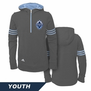 Vancouver Whitecaps FC adidas Youth Girls Goalie Hoodie - Grey