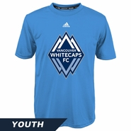 Vancouver Whitecaps FC adidas Youth Primary Climalite Tee - Light Blue