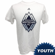 Vancouver Whitecaps FC adidas Youth Primary Logo Short Sleeve Tee - White