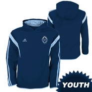Vancouver Whitecaps FC adidas Youth Travel Hoody - Navy