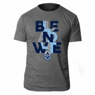 Vancouver Whitecaps FC 'Blue And White' Blended Crew Tee - Grey