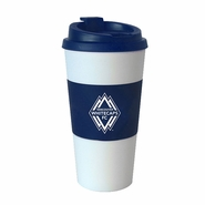 Vancouver Whitecaps FC Boelter 16oz Travel Coffee Tumbler - White