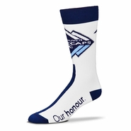 Vancouver Whitecaps FC For Bare Feet Big Top Logo Socks - White