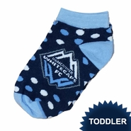 Vancouver Whitecaps FC For Bare Feet Toddler Polka Dot Socks - Navy