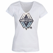 Vancouver Whitecaps FC GIII Women's V-Neck - White