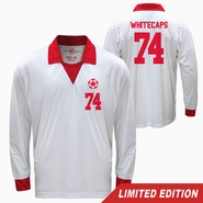 Vancouver Whitecaps FC Limited Edition 40th Anniversary Retro Long Sleeve Jersey - White/Red<br><b><i>Will ship by May 5th</i></b>