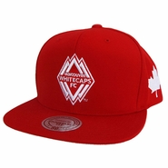 Vancouver Whitecaps FC Mitchell & Ness Canada Day Snapback Hat - Red
