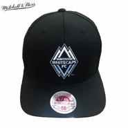 Vancouver Whitecaps FC Mitchell & Ness Mirrored Wolly Flex Fit Hat - Black