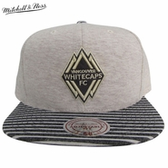 Vancouver Whitecaps FC Mitchell & Ness Oatmeal Heather Snapback Hat - Grey