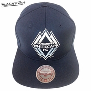 Vancouver Whitecaps FC Mitchell & Ness Primary Team Color Snapback Hat - Navy