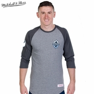 Vancouver Whitecaps FC Mitchell & Ness Team Color Raglan Sleeve Tee - Grey/Charcoal