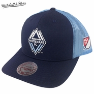 Vancouver Whitecaps FC Mitchell & Ness Two Tone Mesh Trucker Snapback Hat - Navy/Light Blue