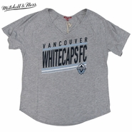 Vancouver Whitecaps FC Mitchell & Ness Women's Race To Finish V-neck Tee - Grey