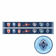 Vancouver Whitecaps FC Ruffneck Blue Seven Badges Scarf