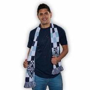 Vancouver Whitecaps FC Ruffneck Checkerboard Scarf - Blue/White
