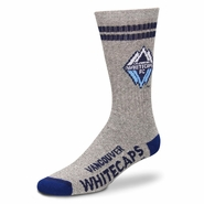 Vancouver Whitecaps FC Two Stripe Socks - Grey