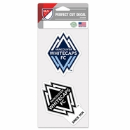 Vancouver Whitecaps FC WinCraft Perfect Cut Decal 2-Pack