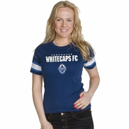 Vancouver Whitecaps FC Women's Football Placket Tee - Navy