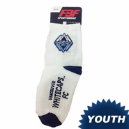 Vancouver Whitecaps FC Youth Logo Name Socks - White
