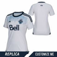 Vancouver Whitecaps FC adidas 2015 Women's Replica Custom Player Short Sleeve Primary Jersey - White <br><b><i>Choose a player or Customize your jersey!</i></b>