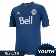 Vancouver Whitecaps FC adidas 2014 Youth Replica Short Sleeve Alternate Jersey - Navy <br><b><i>Choose a player or Customize your jersey!</b></i>
