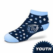 Vancouver Whitecaps FC For Bare Feet Youth Polka Dot Socks - Navy