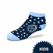 Vancouver Whitecaps FC For Bare Feet Kids Polka Dot Socks - Navy