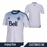 Vancouver Whitecaps FC adidas 2015 Youth Replica Custom Player Short Sleeve Primary Jersey - White <br><b><i>Choose a player or Customize your jersey!</i></b>