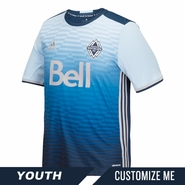 Vancouver Whitecaps FC adidas 'Sea to Sky' Youth Replica Custom Player Short Sleeve Secondary Jersey - Blue <br><b><i>Choose a player or Customize your jersey!</i></b>