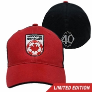 Vancouver Whitecaps FC 40th Anniversary Brushed Two-Tone Flex Fit Cap - Red/Black