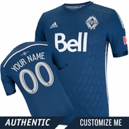 Vancouver Whitecaps FC adidas 2014 Authentic Custom Player Short Sleeve Alternate Jersey - Deep Sea/Silver<br><b><i>Choose a player or Customize your jersey!</i></b>