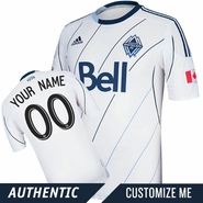 Vancouver Whitecaps FC adidas Authentic Custom Player Short Sleeve Primary Jersey - White/Deep Sea - <b><i>Choose a player or Customize your jersey!</i></b><br><b><i>THIS WEEKEND THROUGH MONDAY ONLY: ANY NAME, ANY NUMBER<br>Free personalization with any adult jersey - </i><font color=red>A $25 VALUE!</b></font>