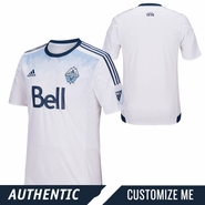 Vancouver Whitecaps FC adidas 2015 Authentic Custom Player Short Sleeve Primary Jersey - White <br><b><i>Choose a player or Customize your jersey!</i></b>