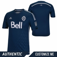 Vancouver Whitecaps FC adidas 2015 Authentic Custom Player Short Sleeve Secondary Jersey - Navy <br><b><i>Choose a player or Customize your jersey!</i></b>